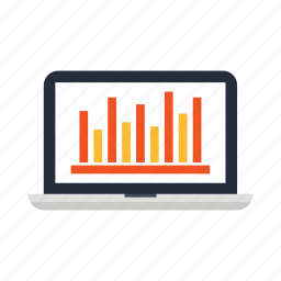 chart, computer, graphic, laptop, macair, notebook, office icon