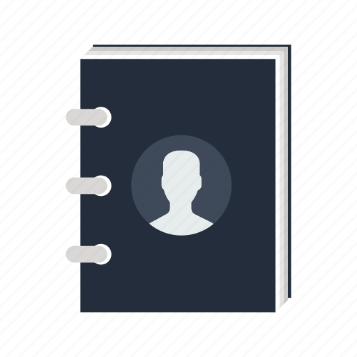 adress, book, contact, contacts, list, notebook, phone icon