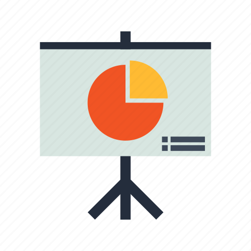 charts, graph, graphic, meeting, presentation, seo, training icon
