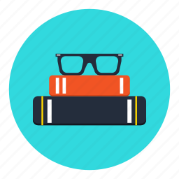 book, books, data, glasses, information, office icon