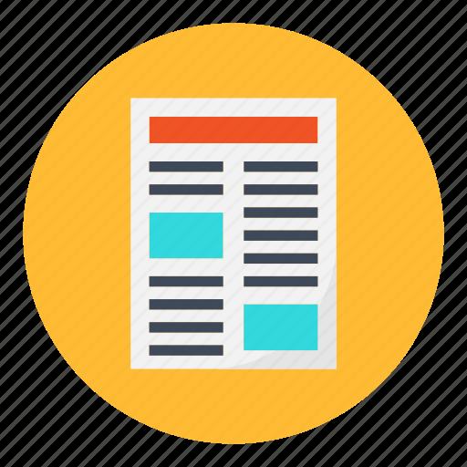 article, item, magazine, newspaper, press icon