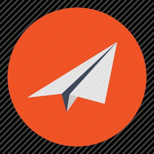 airplane, internet, marketing, message, office, paper, plane icon
