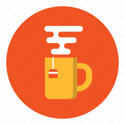 cup, drink, hot, office, steam, tea icon