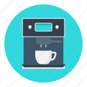 coffee, coffeemachine, coffeemaker, electric, machine, maker, office icon