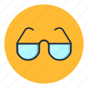 education, eyeglasses, glasses, office, reading icon