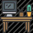 desk, workplace, workspace