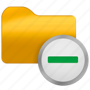 folder, from, minus, office icon