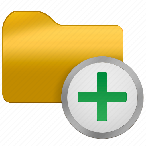 add, folder, from, office icon