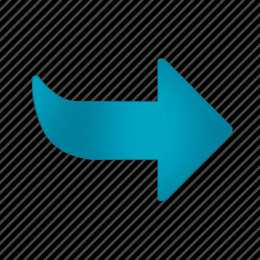 arrow, blue, next, office, operation, program icon
