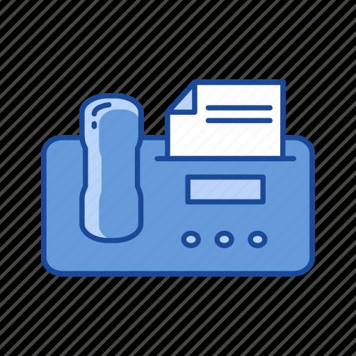 communication, fax, fax machine, telephone icon
