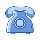 communication, landline, message, telephone icon
