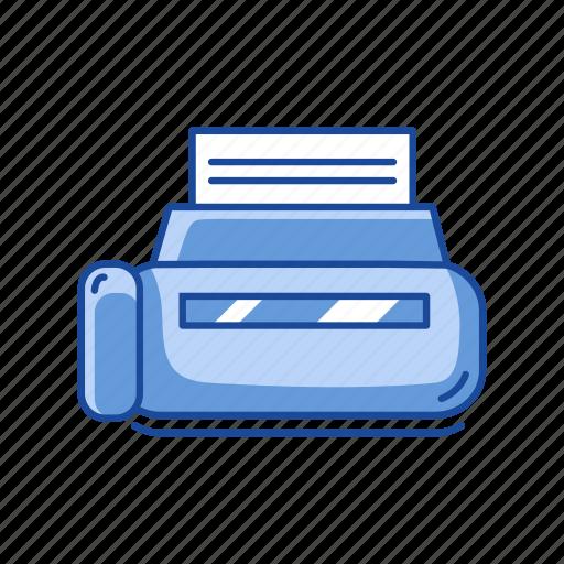 document, print file, printer, scanner icon