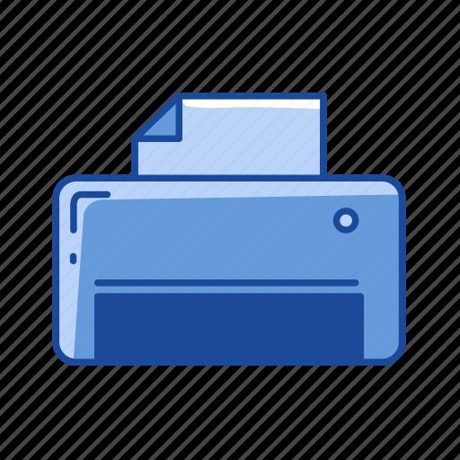 document, print, printer, scanner icon