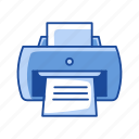 print, print file, printer, scanner icon