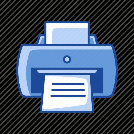 print, print file, printer, scanner icon