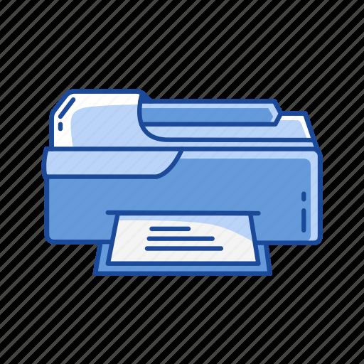document, photocopy, printer, scanner icon
