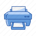document, photocopy, print, printer icon