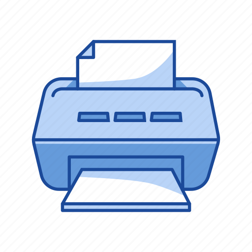 document, print file, printer, scan icon