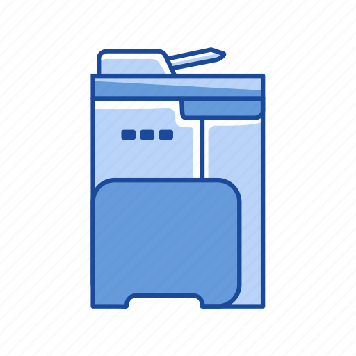copy machine, files, photocopy, scan icon