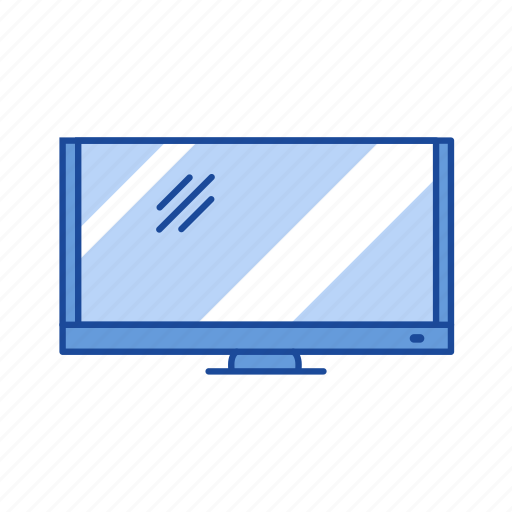 computer, monitor, screen, television icon