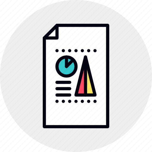 business, chart, data, document, graph, paperwork, report icon