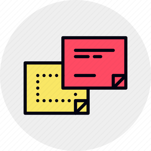 it, memo, note, notes, pages, post, sticky icon