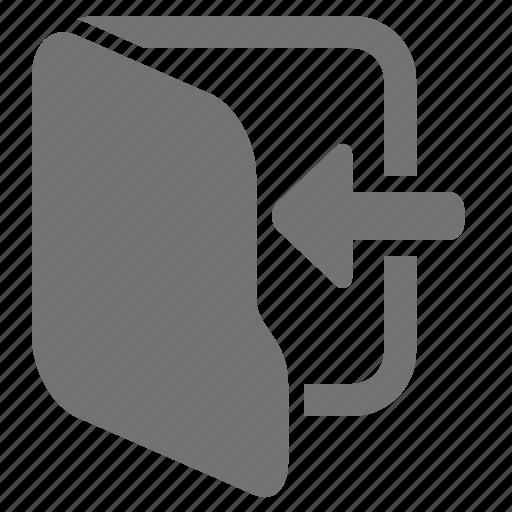 arrow, directory, enter, file, folder, insert icon