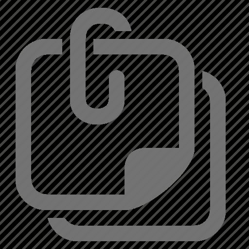 attach, memo, note, office, paper clip, post-it icon
