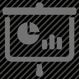 analytics, chart, marketing, projector, screen, seo, statistics icon