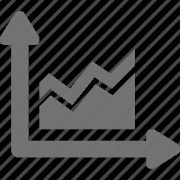analytics, chart, diagram, fluctuation, graph, grid, statistics icon