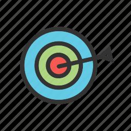 board, bullseye, dart, dartboard, darts, goal, target icon