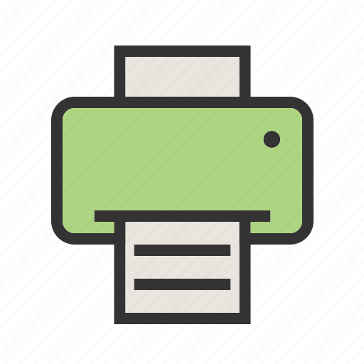 computer, equipment, laser, office, paper, printer icon