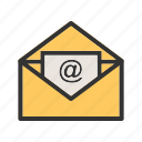 communication, inbox, letter, mail, newsletter, post, send icon