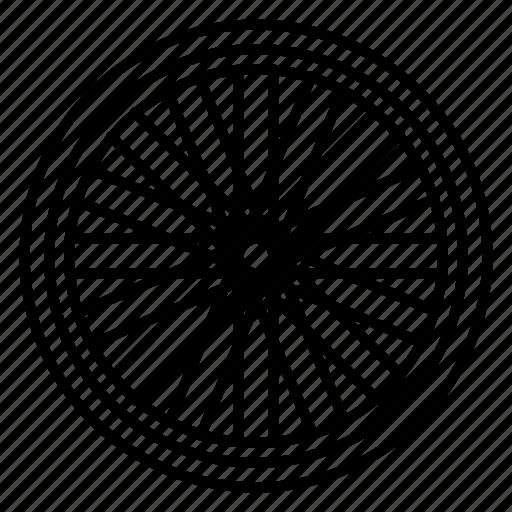 bicycle, bicycle wheel, bike, cog, racing, spokes, wheel icon