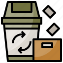 bin, garbage, office, recycle, trash icon
