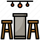 chair, furniture, seat, stool, table icon
