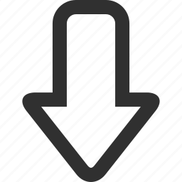 arrow, down, download, downloads, move, save icon