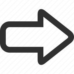 arrow, fast, forward, foward, go, next, right, skip icon