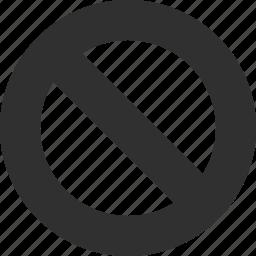 attention, cancel, danger, error, remove, undo, warning icon