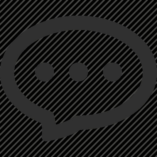 bubble, chat, comment, communication, connection, speech, talk icon