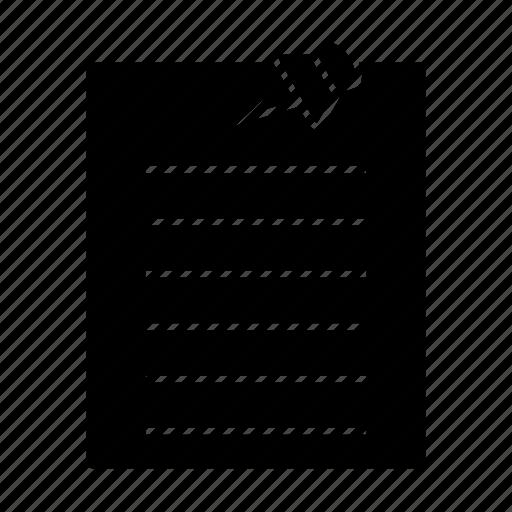 document, post it, reminder icon