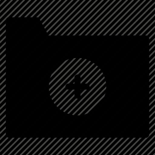 add, addfile, directory, folder icon