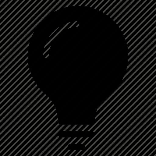 bulb, idea, light, science icon