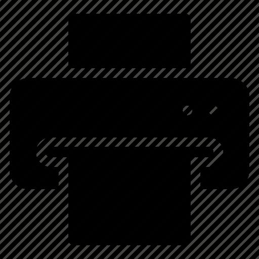 computer, fax, print, printer icon