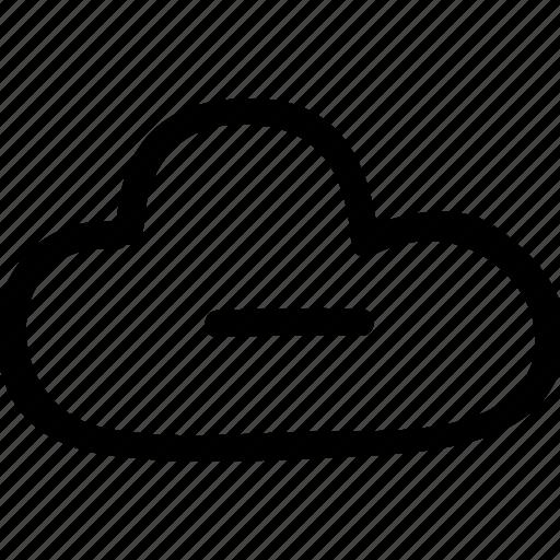 cloud, computing, erase, minus icon