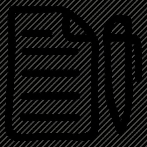 content, edit, editing, pencil icon