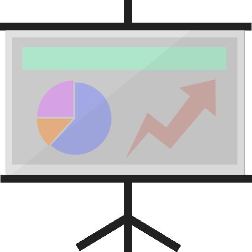 analytics, chart, demo, presentation, report, slides, statistics icon