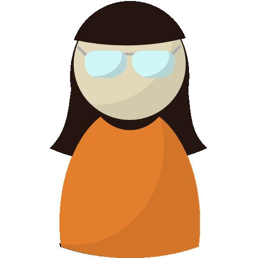 person, profile, secretary, user, woman, worker icon