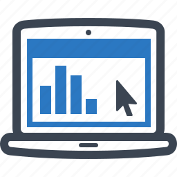 business presentation, graph, statistics, web analytics icon