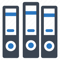 files, office, ring binder icon
